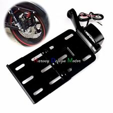 Collapsible LED Side Mount License Plate Brackets For Harley Sportster XL 04-16