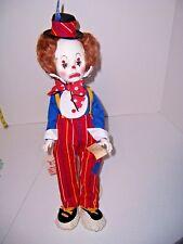 "Doll Effanbee 1750 Jethro Clown 18"" Circus MIOB wOrig Tags & DTD 1984 USA"