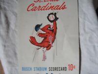 Stan Musial's Last Game Scorecard September 29, 1963 Unscored & SGA Photo f1
