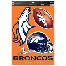 "Denver Broncos 11"" x 17"" Multi Use Decals - Auto, Walls, Windows, Cornhole"
