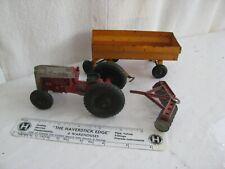 toy car- (3)- 1950's vintage- farm set