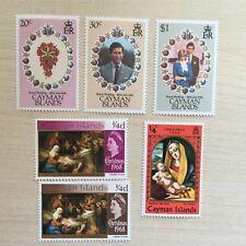 Cayman Islands Briefmarken Satz postfrisch Royal Wedding Diana und Charles (18)