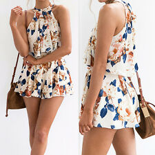 Summer Women's Clubwear Beach Playsuit Party Jumpsuit Romper Short Pant Trousers