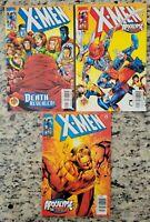 X-Men 95, 96, 97 Apocalypse The Twelve Marvel 1st Wolverine as Death