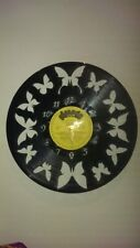 Butterfly themed record clock