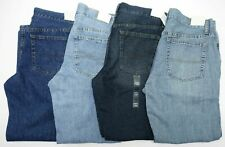 Men Jeans Regular Fit Straight Cotton Urban Pipeline Black and Blue Colors