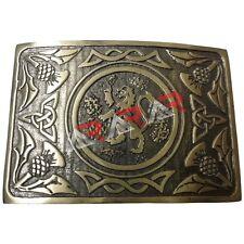 Mens Traditional Lion Rampant Kilt Belt Buckle Antique Finish/Highland buckle