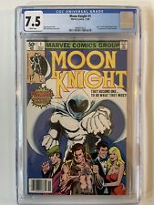 MOON KNIGHT #1 (1980) CGC 7.5 WHITE Pages 1st BUSHMAN Newsstand Variant