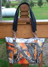 True Timber Blaze Orange Camouflage Handbag-Made In USA