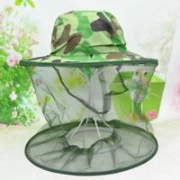 Camouflage Beekeeping Hat Beekeeper Hat Mosquito Net Veil Full Face Neck Cover