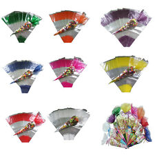 Cellophane Cone Sweet Candy Bags Wrappers for Birthday Party Kids Function Gift