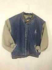 Vtg Men's 1990s No Fear Denim Jean Jacket L 90s 2 Tone Coat #6756