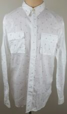 PAUL SMITH Mens Polka Dot Flap Chest Pockets Button Up Casual Shirt Size Large