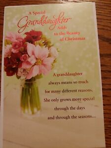 "Christmas Card, American Greetings, ""A Special Granddaughter"", New"