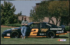 RUSTY WALLACE #2 Nascar Miller Draft Driver Vintage Car Racing Postcard Old PC