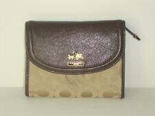 Coach madison op art medium wallet Khaki/Mahogany 46643