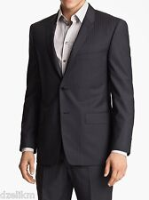 NWT $895 Versace Collection Wool Blend Striped Notch Lapels Suit Size 44R (US)