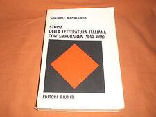 giuliano manacorda storia della letteratura italiana contemporanea 1940-1965