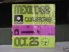 OLIMPIADI OLYMPIC 1968 MEXICO MESSICO BIGLIETTO TICKET PALLANUOTO