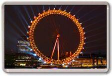 FRIDGE MAGNET - LONDON EYE - Large Jumbo - (Night) London UK England