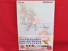 Final Fantasy Tactics Advance official perfect strategy guide book / GBA