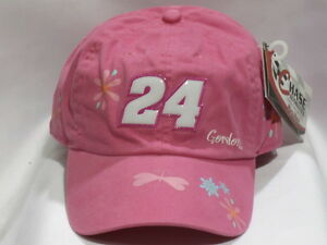 Jeff Gordon #24 DuPont Pink Youth Girl's Hat by Chase Authentics! New With Tags