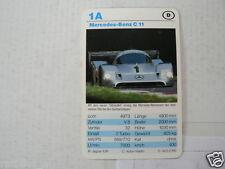 53-RACING CARS 1A MERCEDES-BENZ C11  KWARTET KAART,CARD