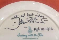 Vtg 1976 Signed John Stobart Royal Doulton ~Sailing With The Tide~Plate Ltd Ed