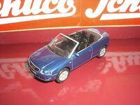 Schuco Audi A 4 cabriolet bleu foncé plus âgés SCHUCO Série 1:43