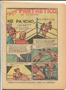LA PRENSA MAGAZIN FANTASTICO 12/8/1940-MEXICAN-TABU JUNGLE MAN-vg/fn