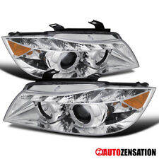 For 2006-2008 BMW E90 3-Series Clear LED Halo Projector Headlights Lamps w/ DRL