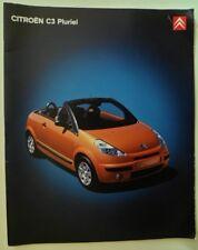 CITROEN C3 PLURIEL orig 2005 UK Mkt Large Format Sales Brochure