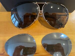 porsche design p8478 gold sunglasses