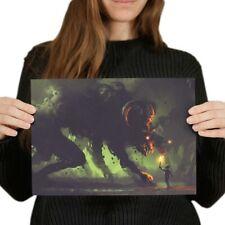 A4-espeluznante Espeluznante Demonio Gamer cartel 29.7X21cm280gsm #14036