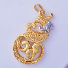 Womens 2 Tone Gold Plated Silver Gold Phoenix Pendant Fit Long Necklace
