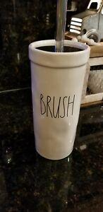 "Rae Dunn Toilet ""BRUSH"" Large Letter LL Farmhouse Bathroom NEW"