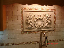 Wall Plaque sculpture home decor backsplash stone tile travertine marble