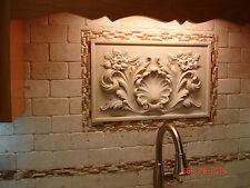 Wall Plaque sculpture home decor backsplash stone tile travertine marble