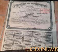 Companhia de Mossamedes – Paris Mai 1910 Titre de 5 Actions