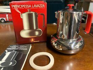 NIB Vintage Principessa Lavazza Espresso Coffee Maker Stovetop Balzano Italy
