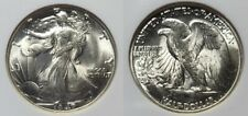 1947 D Silver Walking Liberty Half Dollar 50c NGC MS 65 Old Holder