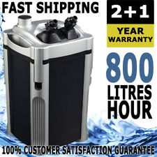 Aqua One Nautilus External Aquarium Fish Tank Reef Water Canister Filter 800lph