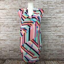 NWT Tori Richard Women's Shift Dress 100% Silk Abstract Print MultiColor Size 0