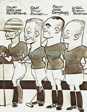 Aldershot Polo Ground Aldershot Command v USA Fred May Caricatures 1936 Print