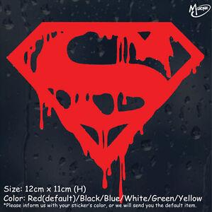 Superman Bloody Logo Car Sticker Reflective Sticker Decal halloween Best Gift-