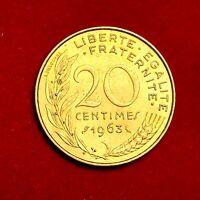 #1787 - RARE - 20 centimes 1963 Marianne SPL FACTURE