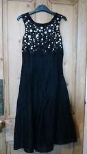 KALIKO SIZE 8 Black embroidery DRESS * Occasion Party Prom