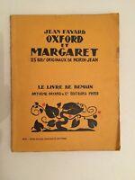 Jean Fayard Oxford Y Margaret Lxv Artheme Fayard & Cie Editores