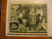 Vintage Lobby card: 1944 The Great Alaskan Mystery chapter 3 Battle in Clouds