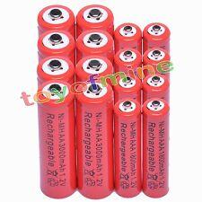 8 Aa 3000 Mah + 8 Aaa 1800mah 1.2 v Ni-mh Batería Recargable De 2a 3a de glóbulos rojos